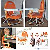 HC27. HIGHCHAIR KURSI MAKAN CHICCO BOOSTER SEAT ORANGE